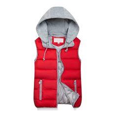2018 Women Hooded Vest Autumn Winter Warm Cotton Padded Waistcoat Slee – geekbuyig