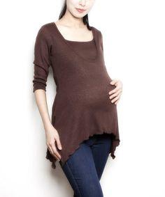 cfd6d9e68 Annee Matthew Chocolate Zara Maternity Nursing Sidetail Top - Women.  Camisas De EnfermeríaVestidos ...