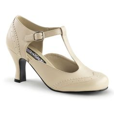 Funtasma Maryjane Trotteur-Pumps Flapper-26 creme matt Gr.36 - http://on-line-kaufen.de/higher-heels/36-eu-funtasma-maryjane-trotteur-pumps-flapper-26-4