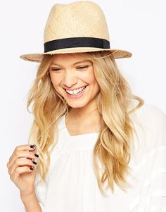 ASOS+Straw+Trilby+Hat+With+Narrow+Band