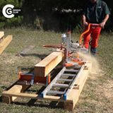 Assemble your own sawmill with a ladder.