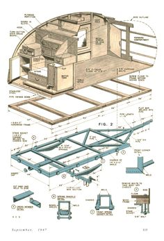 Great Link To Various Interior Layouts Teardrop Trailer Campers Chuck Wagon Plans Compact