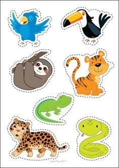 Zoo Centers for Preschool and Kindergarten. Sort the animals by habitat (savanna or rainforest). Zoo Preschool, Preschool Centers, Preschool Printables, Kids Learning Activities, Montessori Activities, Preschool Activities, Rainforest Crafts, Animal Cutouts, Le Zoo