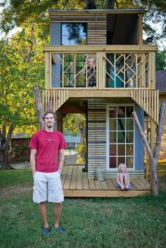 50 Plans, including this Gorgeous Two-Story Treehouse. I want this! Maybe for future grandkids?