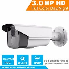 166.00$  Watch now - http://aicon.worlditems.win/all/product.php?id=32796845202 - HiK 2017 New Released H.265 IP Camera DS-2CD2T35FWD-I8 3MP Ultra-Low Light Network Bullet Camera Replace for DS-2CD2T35-I5