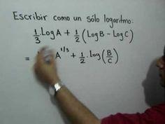 Reducir varios logaritmos a uno sólo: Julio Rios explica cómo aplicar las propiedades de los logartimos, para reducir una expresión que contiene varios logaritmos a uno sólo