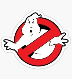 Original Ghostbusters Logo (in colour) Sticker