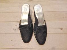 Women's Size 7 M Slip on Black Dress Heel Beverley Hills Polo Club #beverlyhillspoloclub #Slides