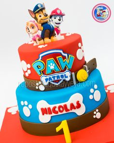 Torta Paw Patrol - Paw Patrol-Kuchen, The Effective Pictures We Offer You About Birthday Cake flavors A quality picture can tell you many things. Bolo Do Paw Patrol, Paw Patrol Torte, Pastel Paw Patrol, Cake Disney, Snowflake Wedding Cake, Paw Patrol Birthday Theme, Basic Cake, Character Cakes, Cakes For Boys