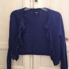 Navy cardigan Never been worn navy long sleeved cardigan. Express Sweaters Cardigans