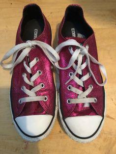 2a4384d4398bcb Fuchsia Glitter Converse Womens US Size 3  fashion  clothing  shoes   accessories