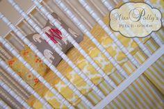 Crib Bedding in Taza Yellow!  http://www.etsy.com/listing/79512469/custom-baby-crib-bedding-design-your-own