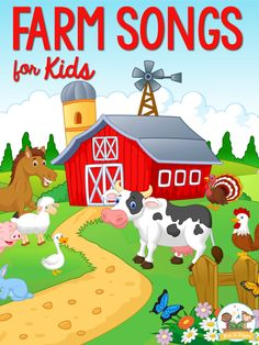 The best farm songs for preschool, pre-k, and kindergarten kids. Your kids will love these teacher approved farm theme songs! Farm Animals For Kids, Farm Animals Preschool, Preschool Songs, Kids Songs, Preschool Class, Preschool Farm Crafts, Kindergarten Songs, Farm Kids, Farm Animal Songs