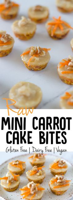 These raw mini carrot cake bites are the perfect recipe to start 2017 off! They are an adaptation of my raw carrot cake with macadamia frosting recipe that I shared way back in 2014. Again I went with macadamia frosting as it is my favourite nut! You could also make it with cashews or blanched almonds.
