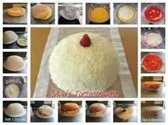 Silvia's Tortenträume:  Kuppeltorte Kuppel Torte Cake Kuchen Erdbeer-Kuppel Anleitung Motivtorte