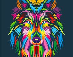 13 Colorful Animal Vector Illustration on Behance Indian Art Paintings, Colorful Paintings, Animal Paintings, Ciel Pastel, Cartoon Christmas Tree, Christmas Tree Wallpaper, Colorful Animals, Arte Horror, Arte Pop
