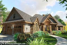 Architectural Designs House Plan 16895WG - Rocking Craftsman with 3-Car Garage and Expansion Up and Down! Designed in response to requests for an alternate to plan 16850WG, this version gives you a 2-car garage angled off the left side of the home, a bonus room above the garage and an optional finished lower level. Ready when you are. Where do YOU want to build?