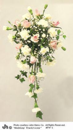 Grace and Loveliness  Cascade Wedding Bouquet