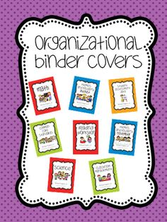 binder covers!