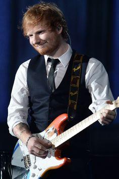 Ed Sheeran and John Mayer Perform at the Grammys