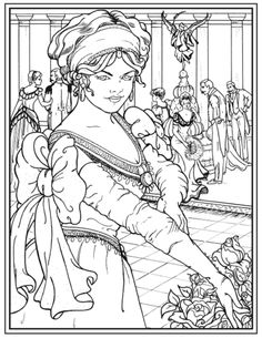 Creative Haven American Beauties Coloring Book, Dover Publications