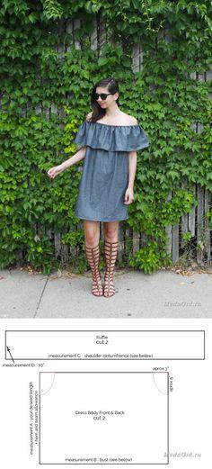 Хенд мейд: Как сшить платье с воланом: выкройки и мастер-классы