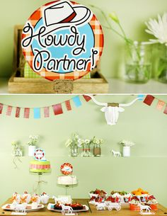 """Colorful """"Cowboy Cool"""" Birthday Party"""