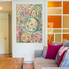 """Bungalow Rose Boho Paisley I Painting Print on Wrapped Canvas Size: 18"""" H x 12"""" W x 0.75"""" D"""