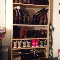 Bookshelf Turned Shoe Rack