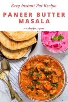Authentic tasting restaurant style paneer butter masala is so EASY in the Instant Pot. A crowd pleaser recipe that takes only 20 mins to cook. #ministryofcurry #indianrecipe #instantpot Curry Recipes, Vegetarian Recipes, Healthy Recipes, Paneer Makhani, Veggie Dinners, Indian Food Recipes, Ethnic Recipes, Biryani Recipe, Recipes