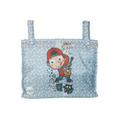 Bolsos para sillas de paseo de bebes de la coleccion Supersong azul.