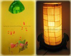 borboleta, mobile e luminaria garrafa pet