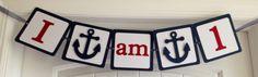 Nautical High Chair Banner - Customizable by 2CreativeGirls on Etsy https://www.etsy.com/listing/153218486/nautical-high-chair-banner-customizable