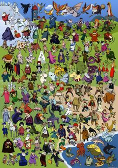 All the caracters from Moomin (anime series), by Svend Rothmann Bonde Moomin Valley, Tove Jansson, Cartoon Shows, Little My, Typography Prints, A Comics, Cute Wallpapers, Finland, Fairy Tales