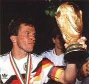 Lothar Matthaus He has played in five FIFA World Cups (1982, 1986, 1990, 1994, 1998) more than any other outfield player, and holds the record for the most World Cup matches played by a single player (25 games). He also won UEFA Euro 1980, and played in the 1984, 1988, and 2000 UEFA European Football Championships. In 1999, aged 38, he was again voted German Footballer of the Year, having previously won the award in 1990.