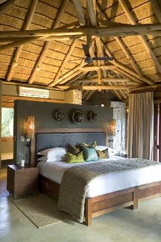 Leadwood Lodge - Sabi Sand Game Reserve, South Africa This is life! Villa Luxury, Bamboo House Design, African House, African Interior, Game Lodge, Thatched House, Lodge Decor, Hotel Decor, Lodge Style