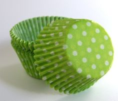 Lime+Green+Polka+Dot+Cupcake+Liners+45+by+sweetestelle+on+Etsy,+$3.25