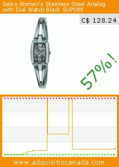 Seiko Women's Stainless Steel Analog with Dial Watch Black SUP089 (Watch). Drop 57%! Current price C$ 128.24, the previous price was C$ 300.46. https://www.adquisitiocanada.com/seiko/seiko-womens-stainless