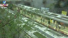 Os meios de transporte ferroviário e aéreo são afetados pela tempestade de primavera o Japão, além de rodovias interditadas. Confira.