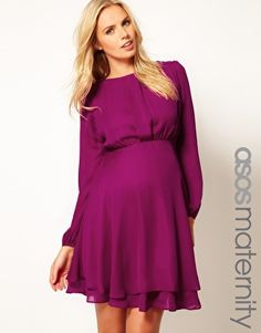 ASOS Maternity Double Layer Dress With Long Sleeves