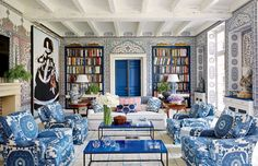 8 Bold and Fun Interiors by Miles Redd Photos | Architectural Digest