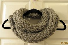 Handmade Knit Infinity Scarf by MistyMountainYarns on Etsy