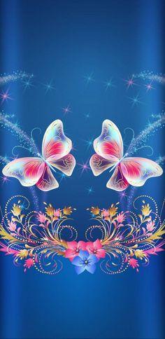 UntoldButterflyStory wallpaper by NikkiFrohloff - 26 - Free on ZEDGE™ Dragonfly Wallpaper, Blue Butterfly Wallpaper, Butterfly Background, Flower Phone Wallpaper, Wallpaper Iphone Disney, Cute Wallpaper Backgrounds, Butterfly Art, Cellphone Wallpaper, Nature Wallpaper