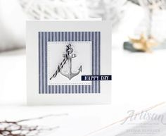 card making ideas for men Maritime card with Come Sail Away Suite products from Stampin up Masculine Birthday Cards, Birthday Cards For Men, Funny Birthday Cards, Handmade Birthday Cards, Men Birthday, Masculine Cards, Handmade Cards, Stampin Up Karten, Stampin Up Cards