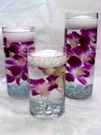 Beautiful floating flower centerpieces!
