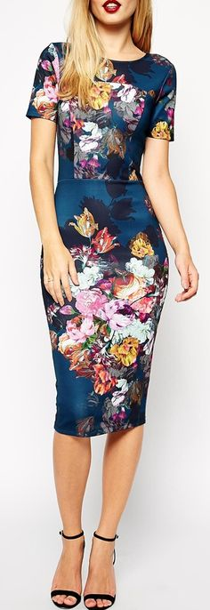 ASOS Floral Print Scuba Bodycon Dress..this is my fave ATM.