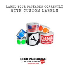 Ensure safe delivery with the correct labels. We have custom labels as well as label machines. Call us today to speak to a packaging expert! 1.800.722.2325 http://www.beckpackaging.com/ #BeckPackaging #BeckSolutions #MachineMatchmakers