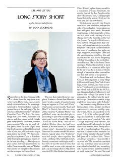 Dana Goodyear: Lydia Davis's Radical Fiction : The New Yorker