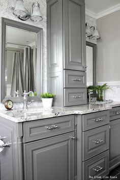 Look Over This How to get the most out of your new custom bathroom cabinetry and make sure it really works for your family! The post How to get the most out of your new custom bathroom cabinetry and make sure it r… appeared first on Home Decor . Bathroom Cabinetry, Bathroom Renovations, Home Remodeling, Decorating Bathrooms, Painted Cabinets In Bathroom, Kitchens With Painted Cabinets, Bathrooms Decor, Kitchen Remodeling, White Traditional Bathrooms
