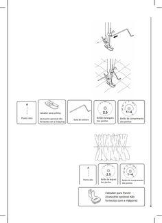 Manual - Elgin Genius Plus JX 4035 Máquina de costura Maquina Elgin Genius, Fabric Dolls, Manualidades